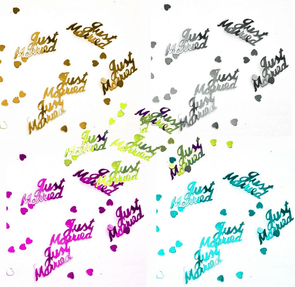 Just Married Foil Wedding Confetti Table Scatter Decoration